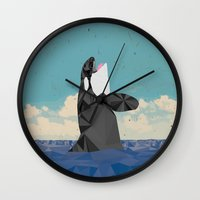 killer whale Wall Clocks featuring Killer Whale II by Jacek Muda