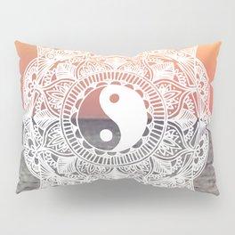 Sunset Yin Yang Mandala Pillow Sham