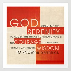 Serenity Prayer Art Print
