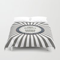 obama Duvet Covers featuring Free Markets Versus Obama by politics