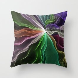Maypole Dance Aurora String Theory # 6 Throw Pillow