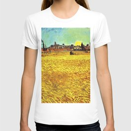 Sunset at Wheat Field by Vincent van Gogh T-shirt
