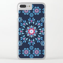 winter mandala Clear iPhone Case