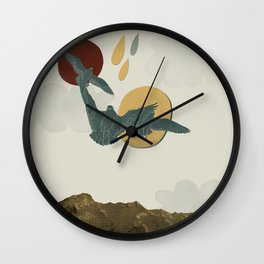 Watching all the ground beneath you drop Wall Clock
