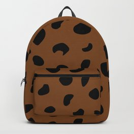 Leopard Print - Orange Brown Backpack