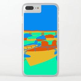 Boats at Lake Garda Clear iPhone Case