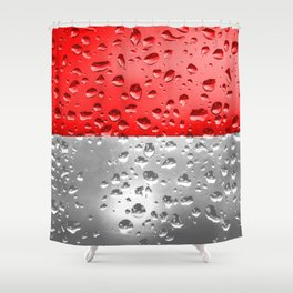 Flag of Indonesia - Raindrops Shower Curtain