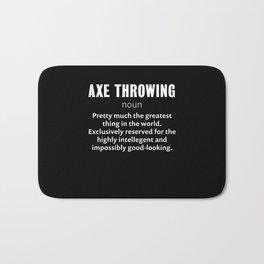 Funny Axe throwing Gift for Axe Thrower Bath Mat