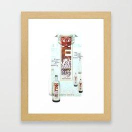 Dirty Burd Advertisement Framed Art Print