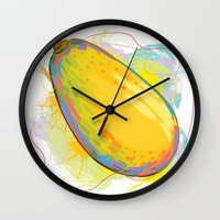vietnam Wall Clocks featuring Vietnam Papaya by Vietnam T-shirt Project