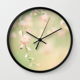Fresh Mint Kisses Wall Clock
