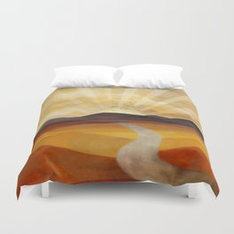 Desert in the Golden Sun Glow II Duvet Cover