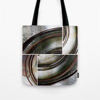 metal Tote Bags featuring Metal by Erica Schiavi