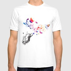 Nature's comeback graffiti MEDIUM White Mens Fitted Tee