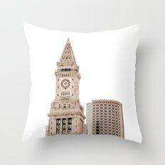 Boston Architecture Throw Pillow