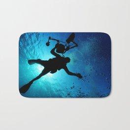 Scuba Diver Cameraman Bath Mat
