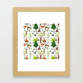 Forest Life Framed Art Print