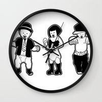 gangster Wall Clocks featuring Gangster babies. by Lacey Jae