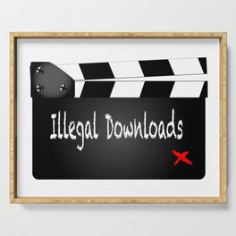 Illegal Downloads Clapperboard Serving Tray