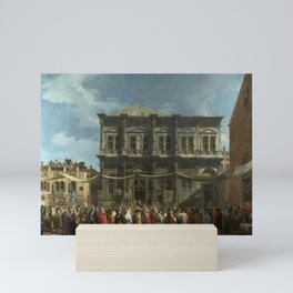 The Feast Day of St Roch by Canaletto Mini Art Print