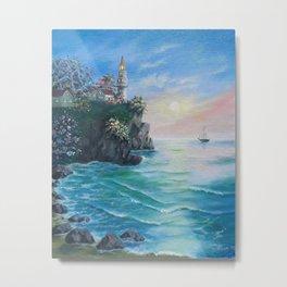 Light house cliff Metal Print