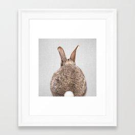 Rabbit Tail - Colorful Framed Art Print
