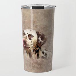 Watercolor Cute Dalmatian Travel Mug