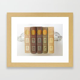 Dickens with Background Framed Art Print