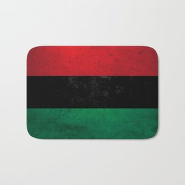 Distressed Afro-American / Pan-African / UNIA flag Bath Mat