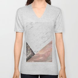 Marble with sequins and mother of pearl Unisex V-Neck
