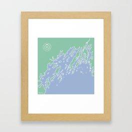 Casco Bay Maine USA Framed Art Print