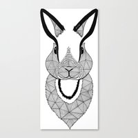 rabbit Canvas Prints featuring Rabbit by Art & Be