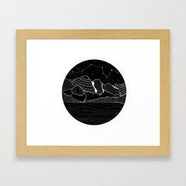Lac Moraine Framed Art Print
