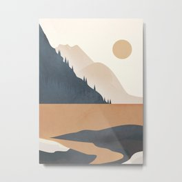 Minimalistic Landscape IV Metal Print