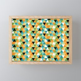 Scandy Triangles Framed Mini Art Print