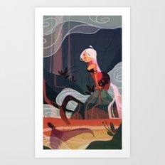 Lava Mermaid Art Print