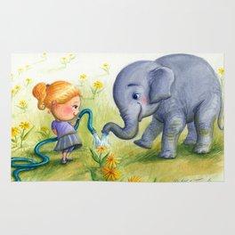 """Elephant Efficiency"" Rug"
