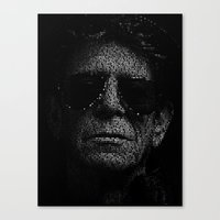 lou reed Canvas Prints featuring LOU REED, SO FREE. by Robotic Ewe