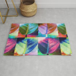 Abstract Leaf Colors Rug