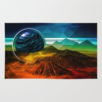 sci fi Area & Throw Rugs featuring Sci-Fi Mountains by Daluci Designs