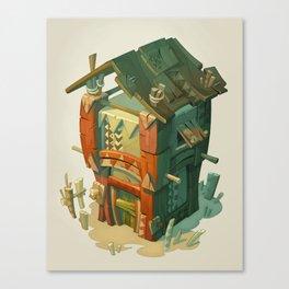 Afriki House Canvas Print