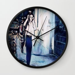 Every Twisted Little Flower Wall Clock