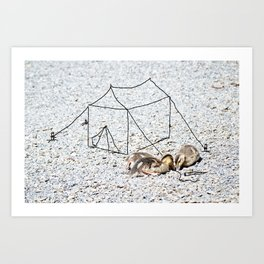 setting up camp Art Print