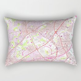 Old Perth Amboy, Rahway & Metuchen NJ Map (1956) Rectangular Pillow