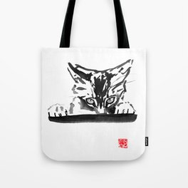 smelling cat Tote Bag