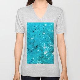 Blue crystal Unisex V-Neck