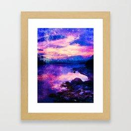 Abstract Sunburst Beach Framed Art Print