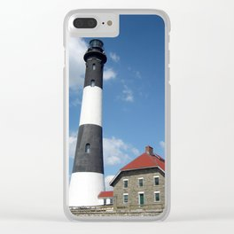 Fire Island Lighthouse Clear iPhone Case