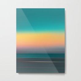 Tri-Tone Neon Lights Abstract Futuristic Horizon Scene // 2062 Skylights Metal Print
