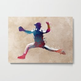 Baseball player 8 #baseball #sport Metal Print